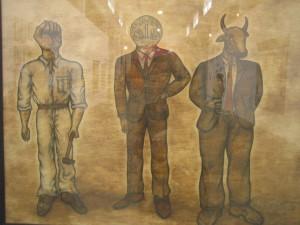 Yürsel Arslan, 'Kapital', series, 1973-1974, installation view, 11th International İstanbul Biennial, photo: Vesna Vukovic
